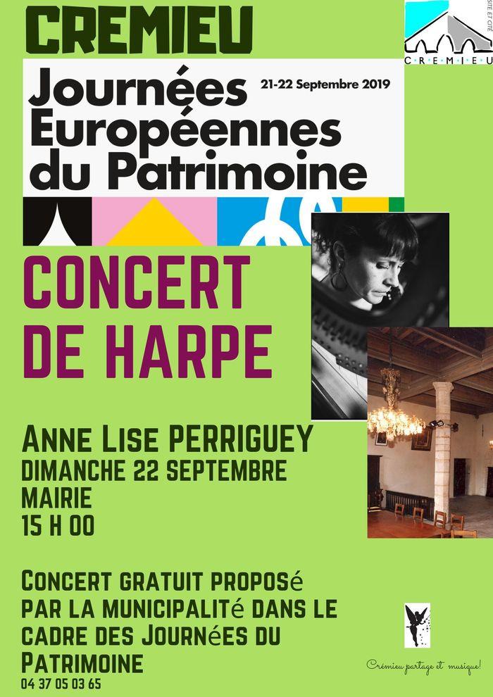 Journées du patrimoine 2019 - Concert de la harpiste Anne Lise Perriguey