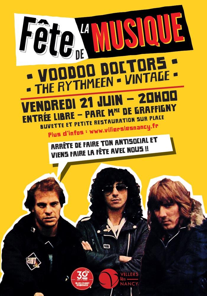Fête de la musique 2019 - Soirée rock : Vintage + Voodo Doctors + Rythmeen