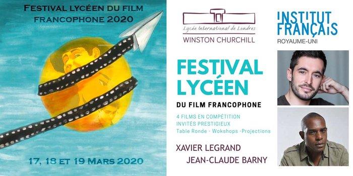 Le Lycée International Winston Churchill accueille les réalisateurs Xavier Legrand et Jean-Claude Barny à l'occasion du Festival Lycéen du Film Francophone