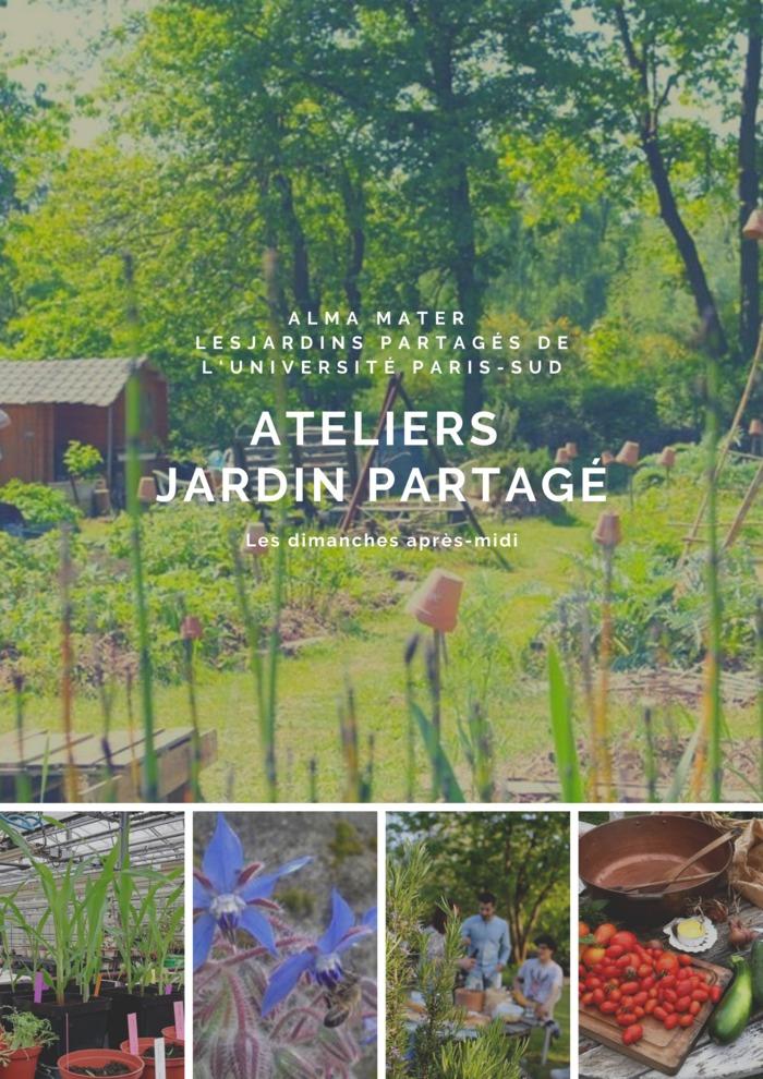 Atelier aux jardins partagés de l'Université Paris-Sud par Alma Mater
