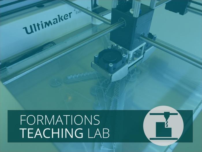Une formation du Teaching Lab, parcours fabrication niveau 2