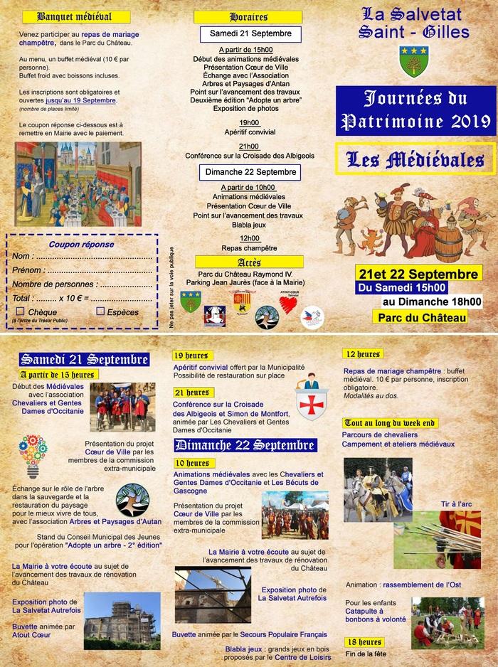 Journées du patrimoine 2019 - Les Médiévales