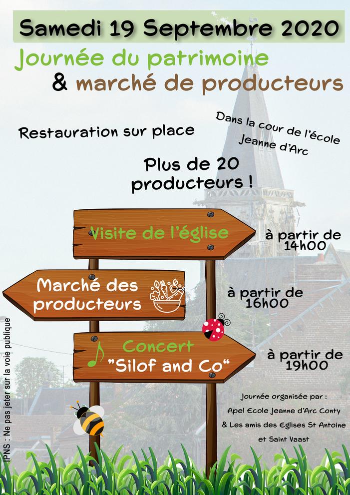 Journées du patrimoine 2020 - Visite de l'église de Conty et marché des producteurs