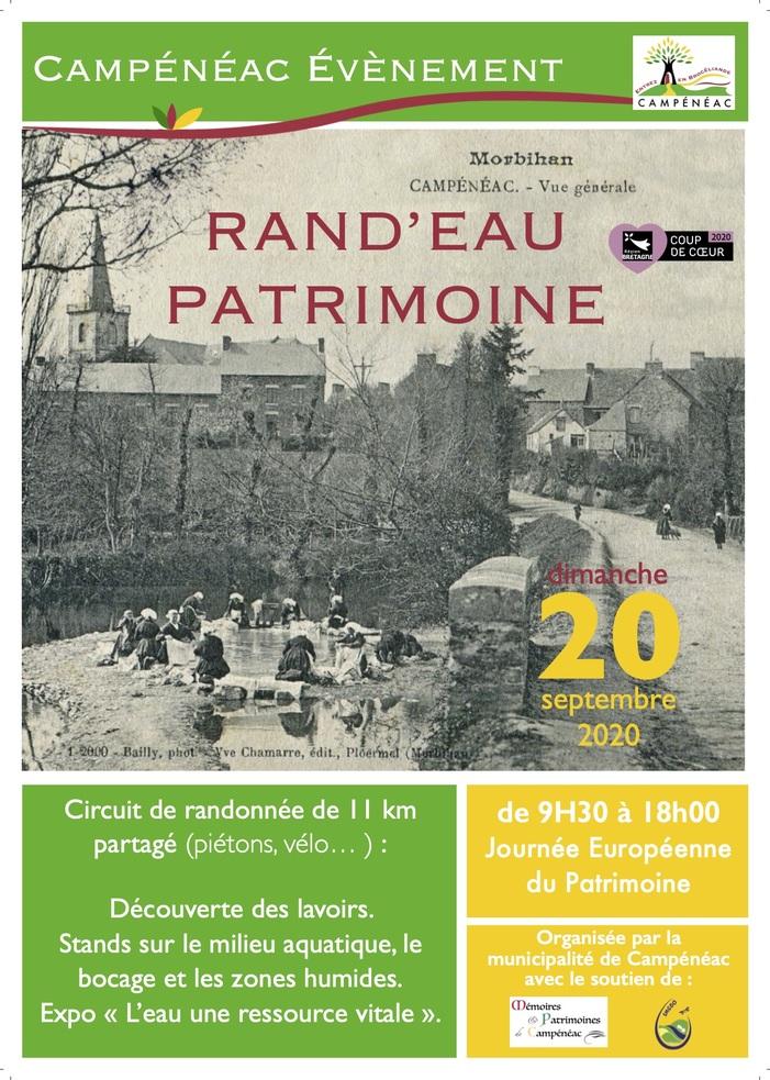 Journées du patrimoine 2020 - Rand'Eau Patrimoine - Campénéac