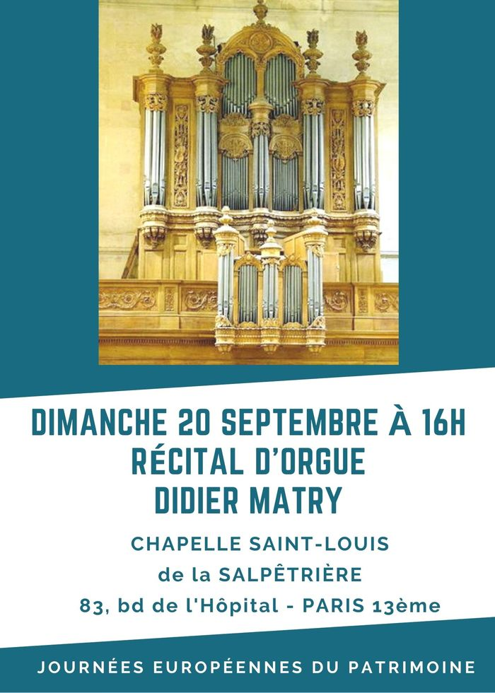 Journées du patrimoine 2020 - Récital d'orgue