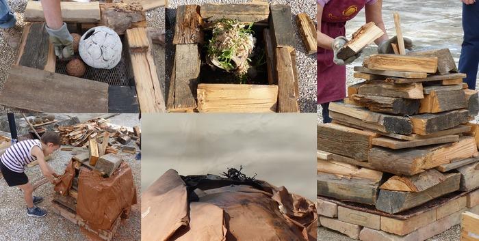 Journées du patrimoine 2020 - Construction d'un four éphémère: le four papier