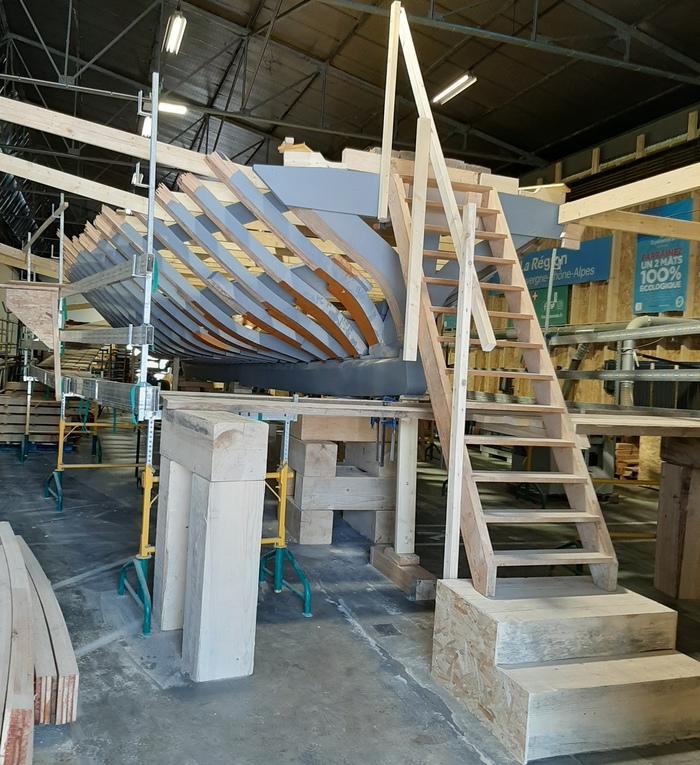 Journées du patrimoine 2020 - Découverte du chantier de construction la barque du lac d'Annecy, l'Espérance III