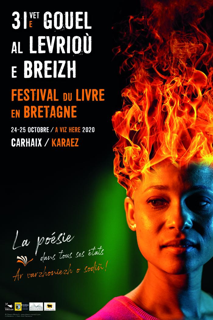"""Le 31ème festival du livre de Carhaix aura lieu les 24 & 25 octobre et aura pour thème """"La poésie dans tous ses états""""."""