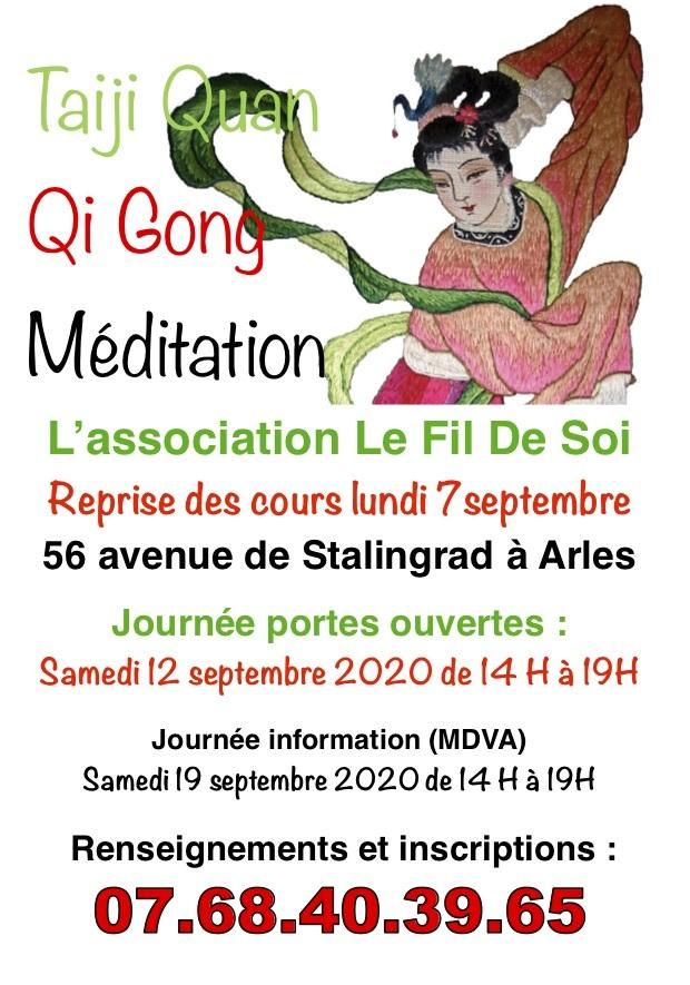 L'association Le fiI de soi présentera ses activités et invite à une séance de méditation.