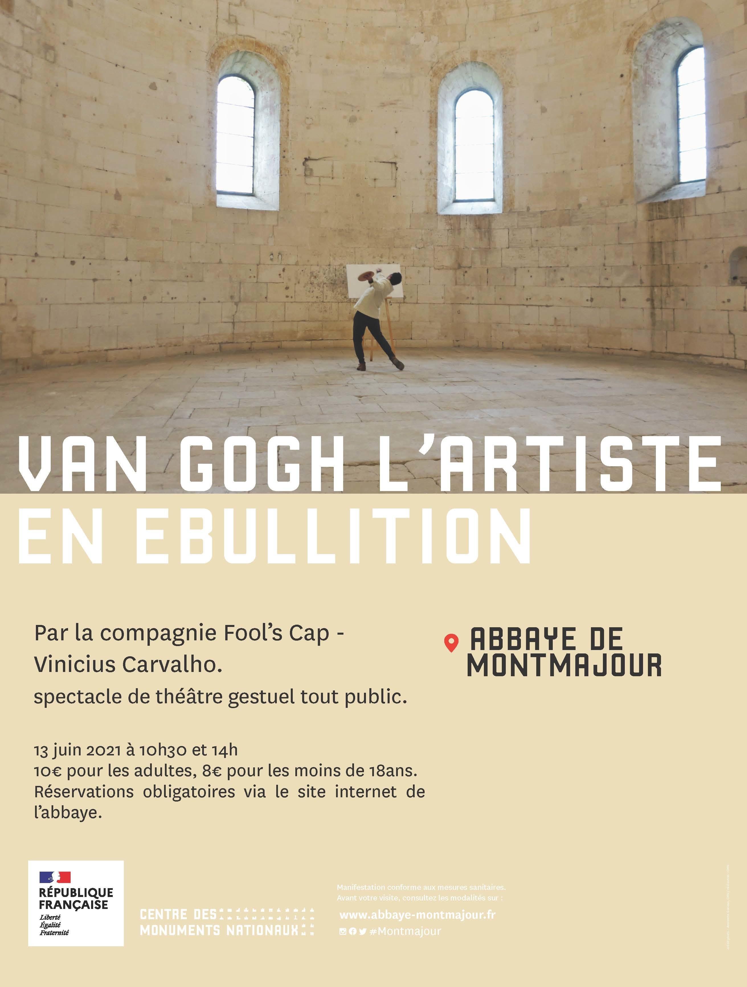 Partez sur les pas de Van Gogh à Montmajour à travers une visite déambulatoire musicale. Cette visite contée sera proposée par la compagnie Fool's Cap Vinicius.