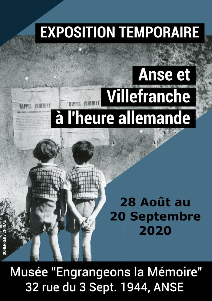 Journées du patrimoine 2020 - Exposition temporaire 1939-1945 Anse, Villefranche et Beaujolais