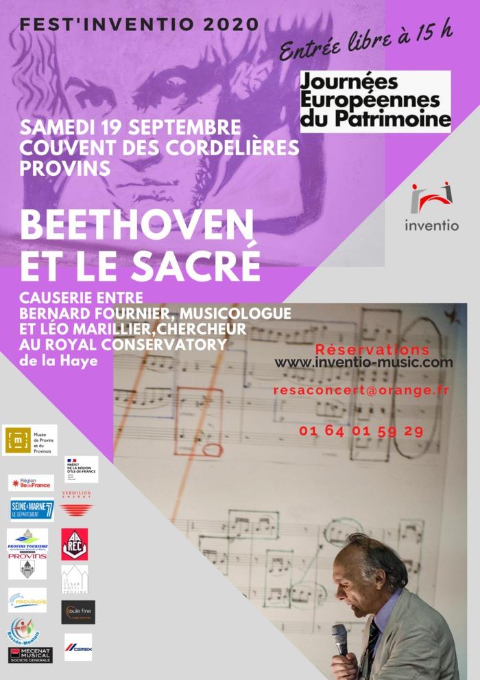 Journées du patrimoine 2020 - Fest'Inventio 2020, édition consacrée à Beethoven. Causerie avec Bernard Fournier :