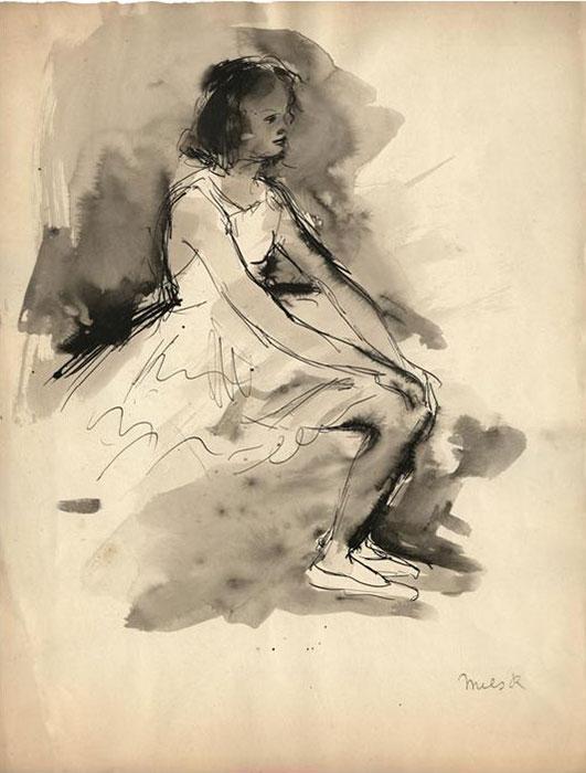 Exposition de dessins et gravures de l'artiste belge, René Mels (1909-1977), peintre, graveur et  maître-verrier.