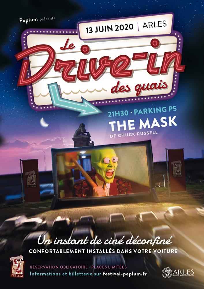 """L'association Peplum vous propose une expérience cinéma inédite à Arles ! Rendez-vous pour une soirée en toute sécurité, confortablement installé dans votre voiture...devant le film culte """"The Mask"""" !"""