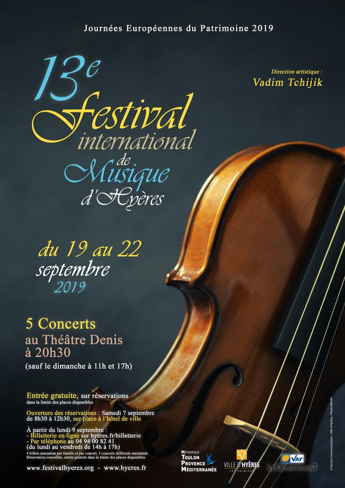 Journées du patrimoine 2019 - 13e Festival International de Musique d'Hyères
