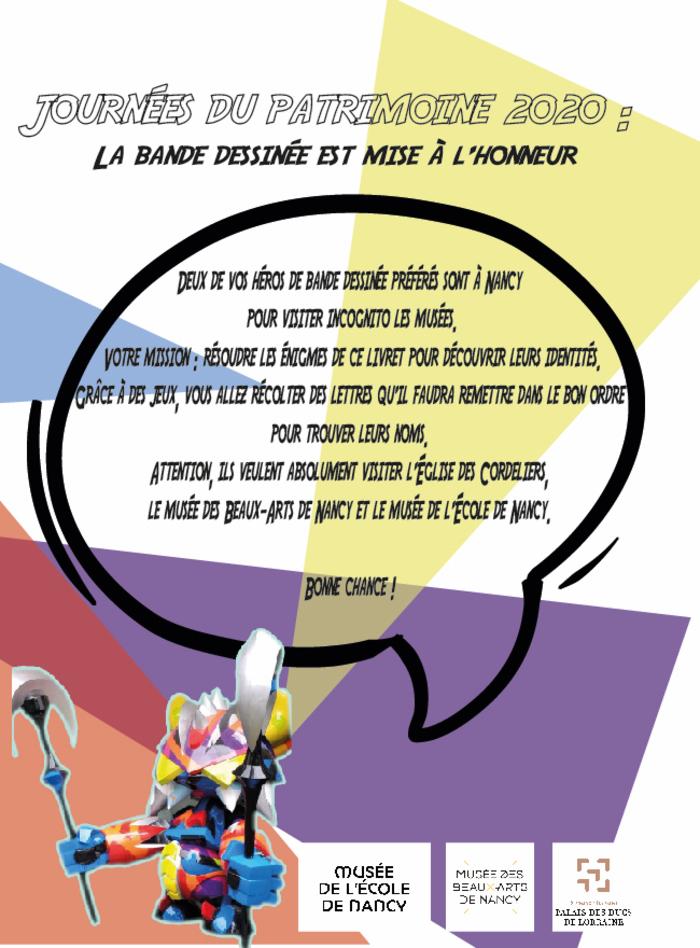 Journées du patrimoine 2020 - Livret jeu en famille pour découvrir les musées de Nancy
