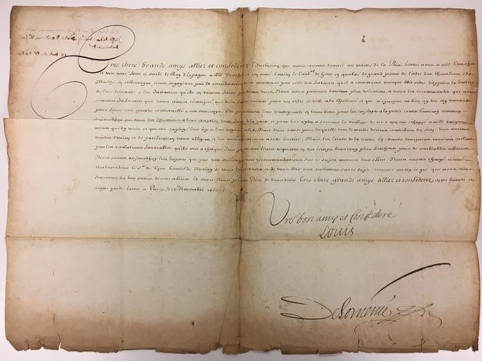 Journées du patrimoine 2020 - ANNULÉ - Exposition : Correspondances diplomatiques du temps du Grand Siècle