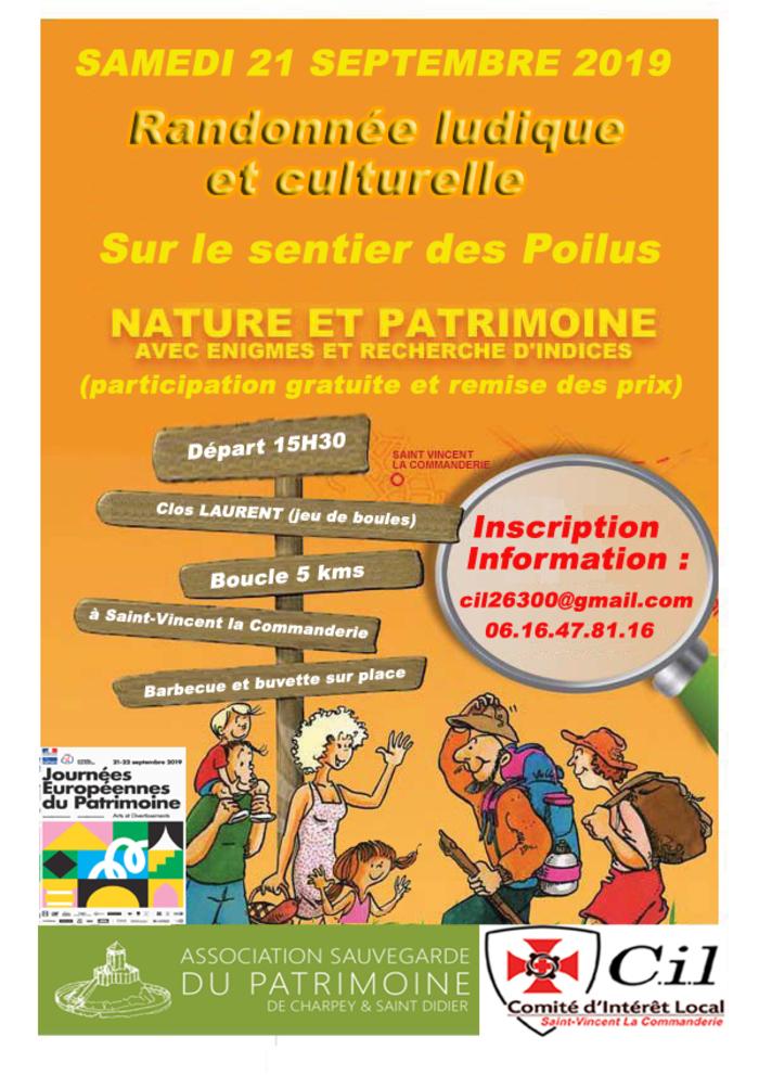 Journées du patrimoine 2019 - Randonnée ludique et culturelle sur le sentier des Poilus, avec énigmes et recherches d'indices