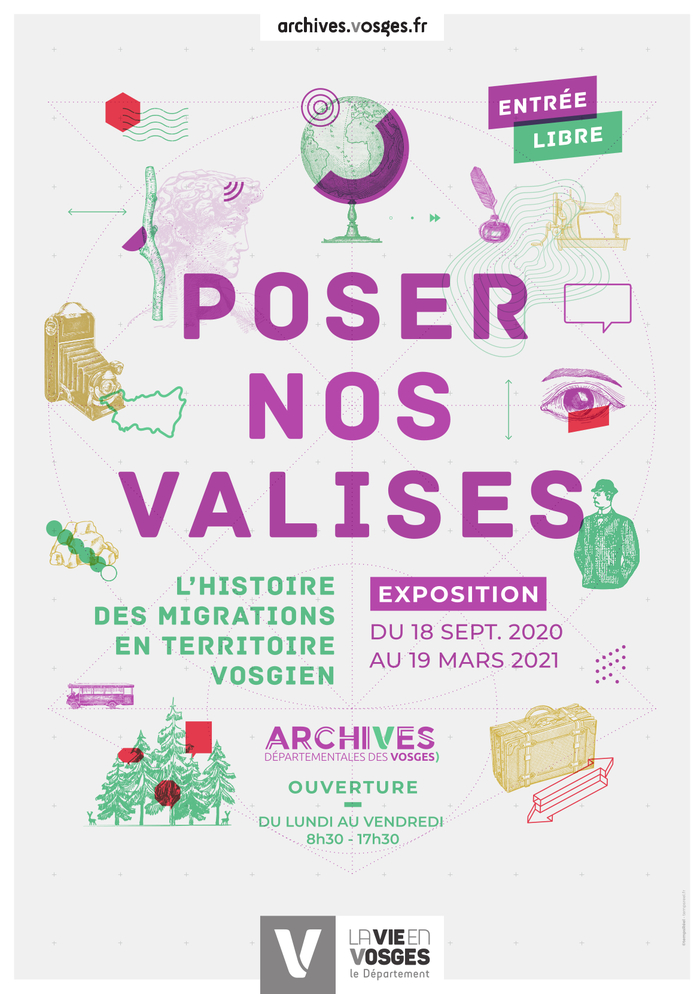 Journées du patrimoine 2020 - Exposition «Poser nos valises»
