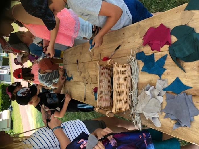 Journées du patrimoine 2020 - Atelier travail du cuir pour les enfants