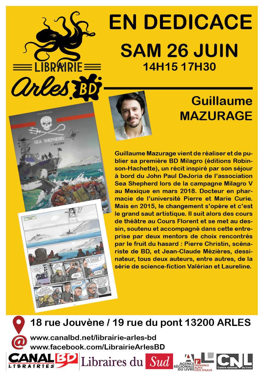 Guillaume Mazurage en dédicace pour son album SEA SHEPHERD
