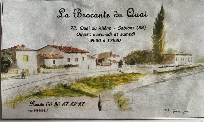 Journées du patrimoine 2020 - Exposition à la brocante - Cartes postales et photos de Sablons et Serrières