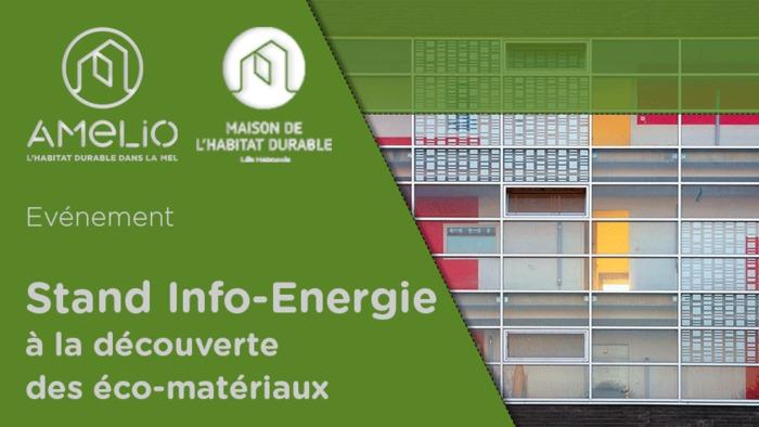 """Stand Info-Energie """"à la découverte des éco-matériaux"""" à Ronchin"""