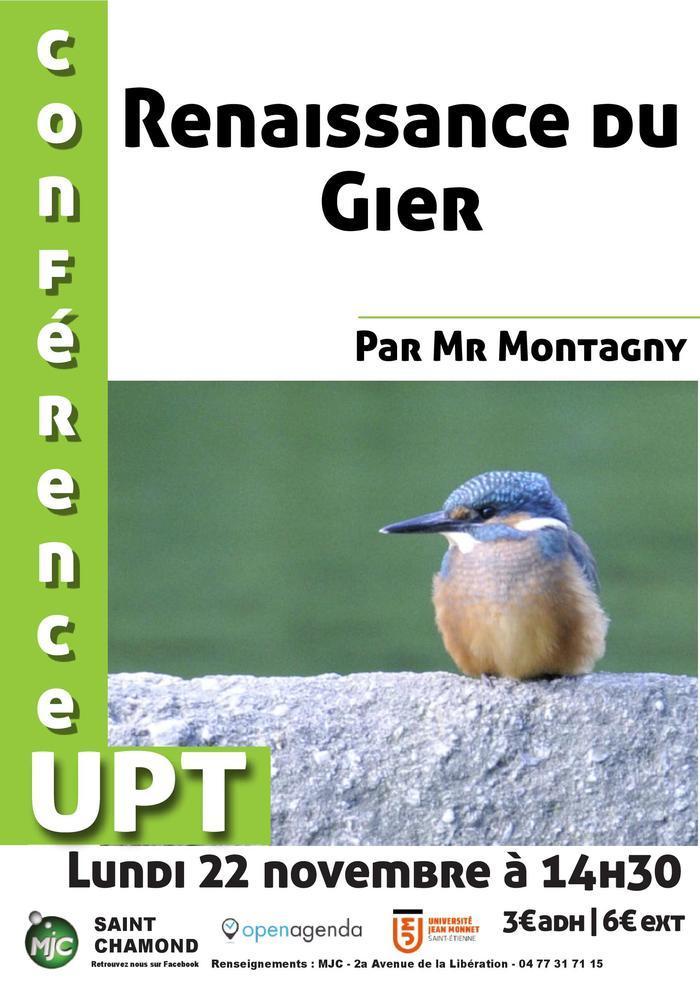 Conférence UPT : renaissance du Gier