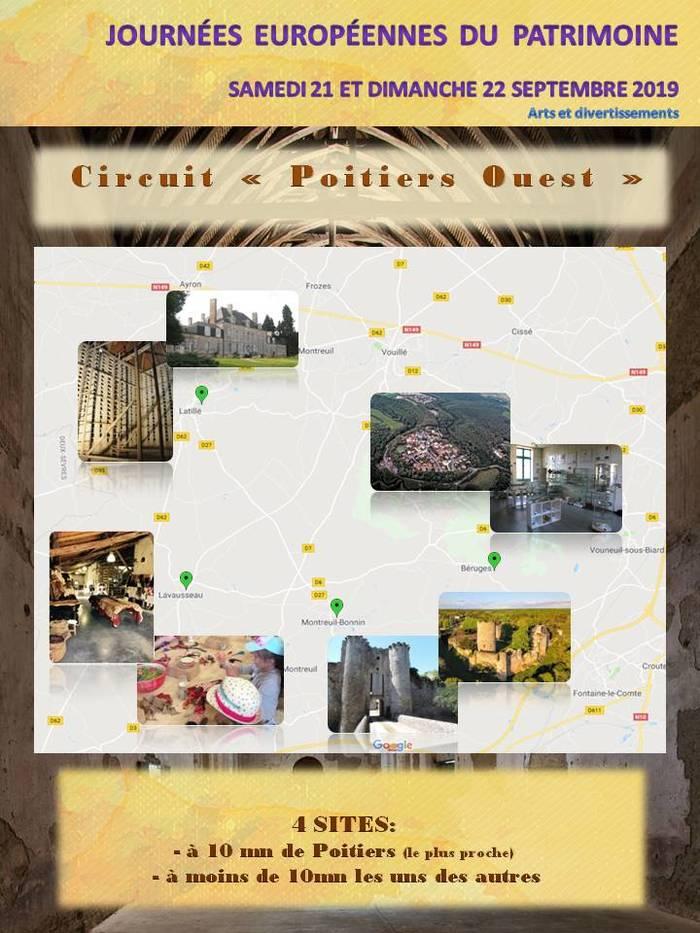 Journées du patrimoine 2019 - Circuit patrimoine Poitiers Ouest