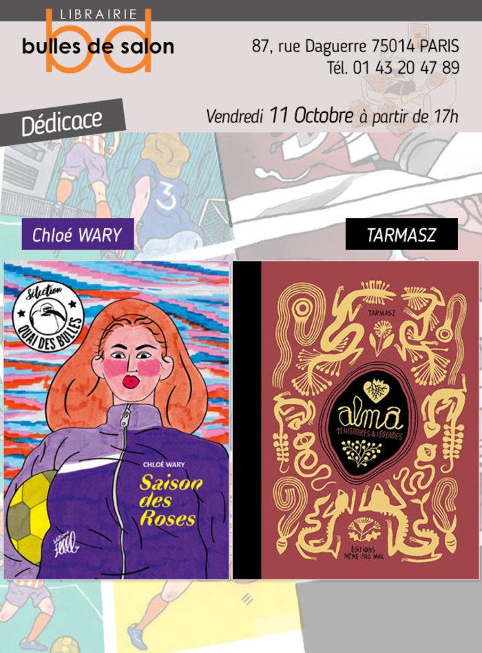 """Le 11 Octobre à partir de 17h, Tarmasz et Chloé Wary nous font l'immense plaisir de venir dédicacer à la librairie ! L'occasion de célébrer la sortie de """"Alma"""" le nouvel album de Tarmasz (à paraître…"""