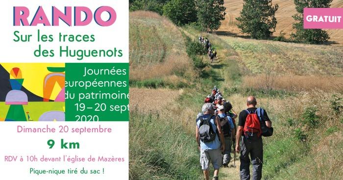 Journées du patrimoine 2020 - Rando