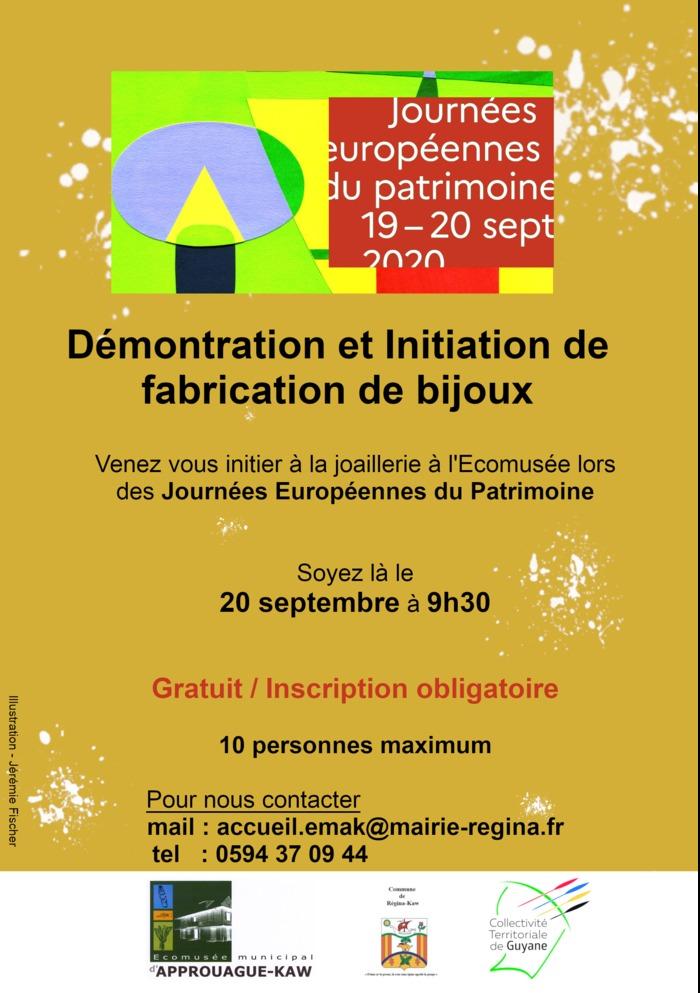 Journées du patrimoine 2020 - Initiation et démonstration de fabrication de bijoux