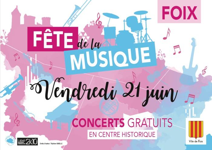 Fête de la musique 2019 - Accordéons // Ecole de musique de Foix-Varilhes // Orchestre A Une No'T Rés // The Furious Badger's // Sol Do Brasil