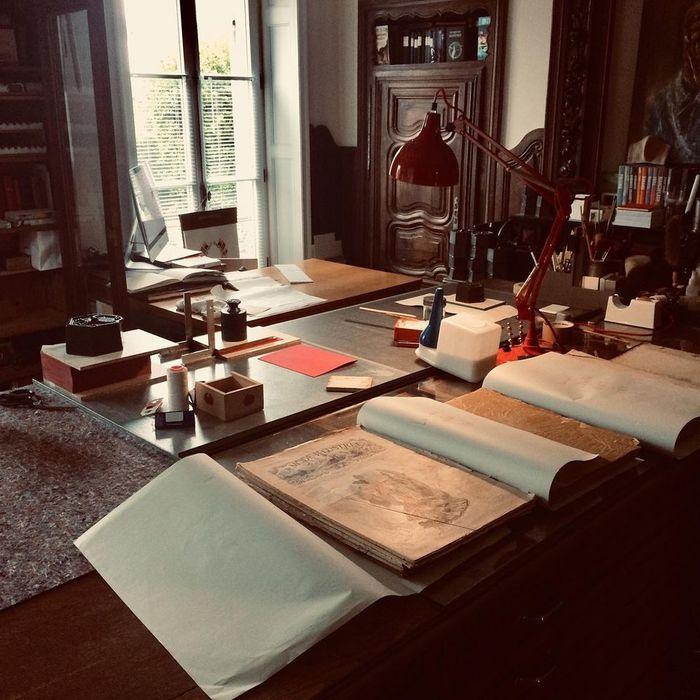 Journées du patrimoine 2020 - Visite de l'atelier de reliure de P. Diebolt