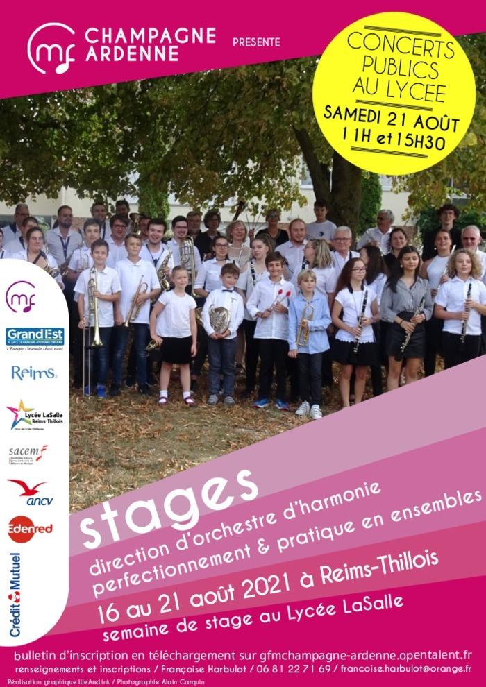 Stages Eté 2021 CMF CH-ARD. Formation de chefs d'orchestre