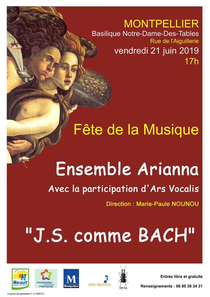 Fête de la musique 2019 - J.S. comme BACH par l'Ensemble baroque Arianna