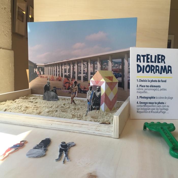 Journées du patrimoine 2019 - Levez les yeux ! Atelier Diorama Tous à la plage !