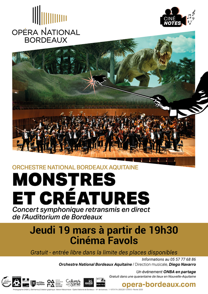 Retransmission en direct du concert symphonique Monstres et Créatures - Opéra National Bordeaux
