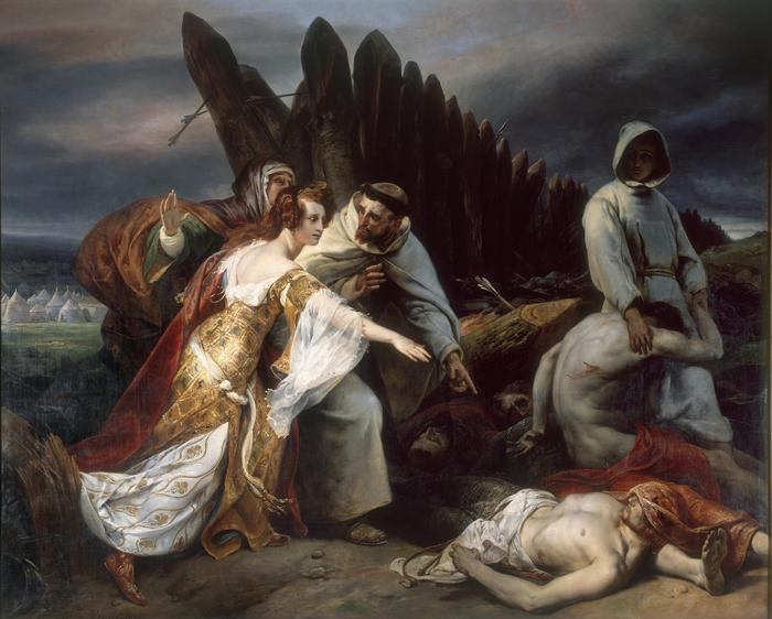 Journées du patrimoine 2019 - Savoir-faire : restauration du tableau d'Horace Vernet, Edith retrouvant le corps d'Harold après la bataille d'Hastings,