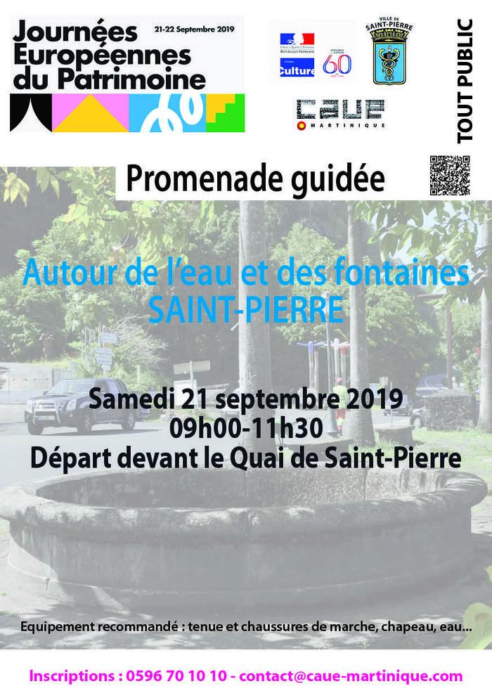 Journées du patrimoine 2019 - St-Pierre / Autour de l'eau et des fontaines / visite guidée