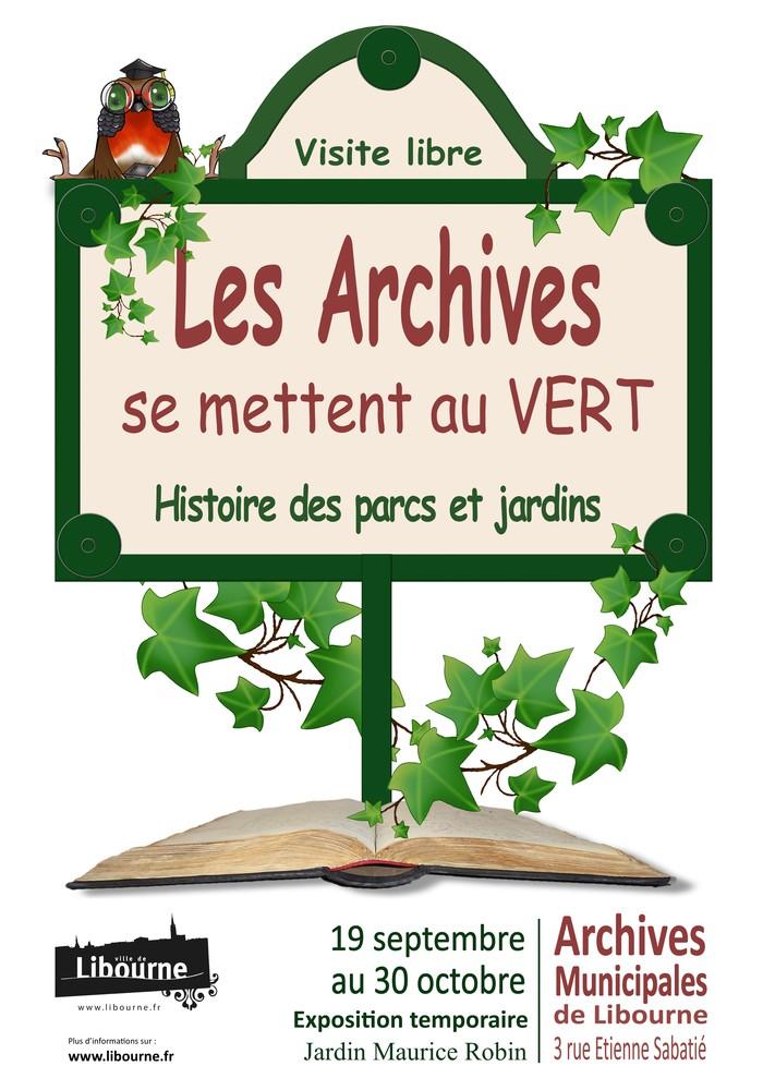 Journées du patrimoine 2020 - Les archives se mettent au vert - Histoire des parcs et jardins.