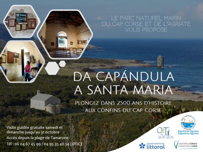 Journées du patrimoine 2020 - visite guidée proposée par le parc marin du cap corse et de l'agriate
