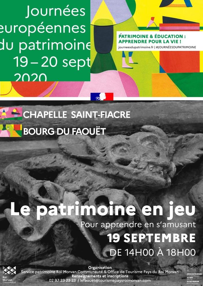 Journées du patrimoine 2020 - Patrimoine en jeu à la chapelle Saint-Fiacre