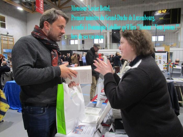 Bientôt lu par Monsieur Xavier Bettel, Premier ministre du Luxembourg, le roman de Dominique Letellier, « Moteur ! Nous jouons ! » sera signé en librairie les 14/21 déc. 2019 à Sotteville-lès-Rouen