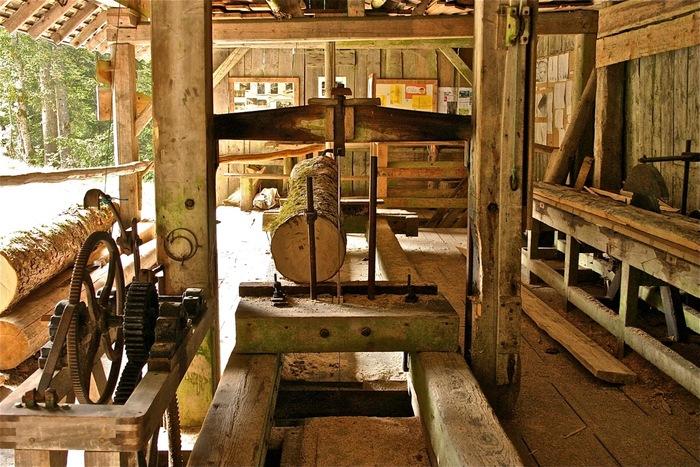 Journées du patrimoine 2019 - Mise en fonction d'une scierie hydraulique du XIXème s.