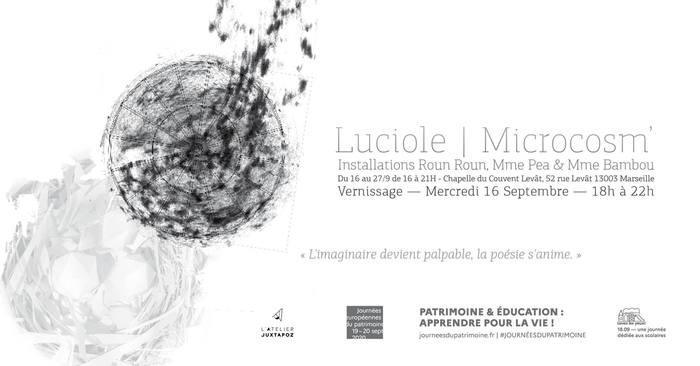Journées du patrimoine 2020 - Annulé   Installations artistiques - Luciole / Microscosm'