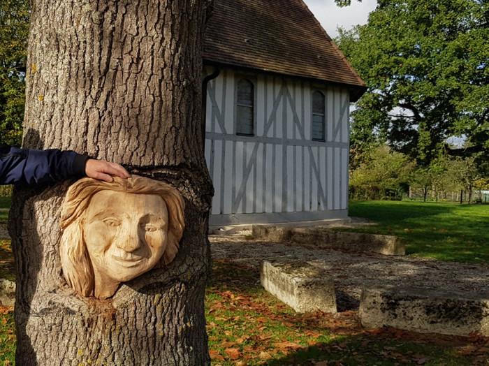 Journées du patrimoine 2020 - Inauguration de la tête dans l'arbre de René Prestat