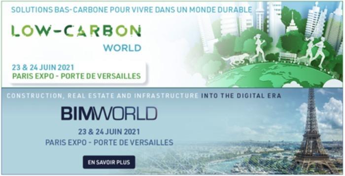 Salons BIM World et Low-Carbon World