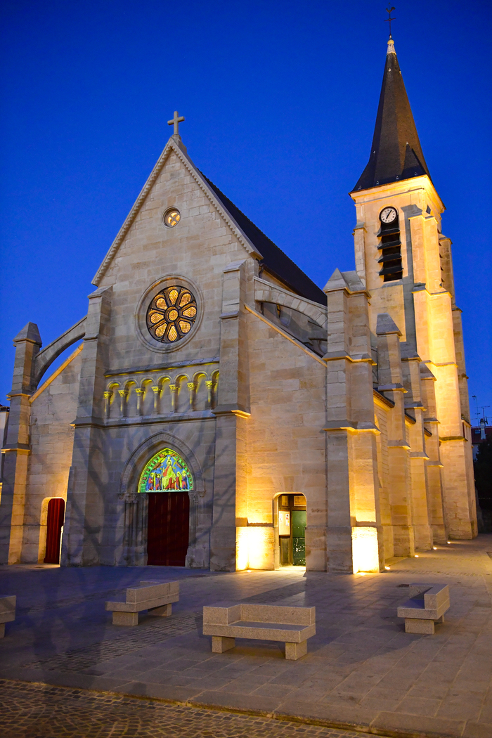 Journées du patrimoine 2020 - Le tympan de l'église Saint-Hermeland