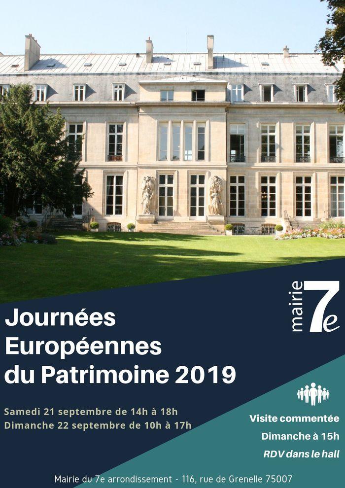 Journées du patrimoine 2019 - Les Journées Européennes du Patrimoine dans le 7e